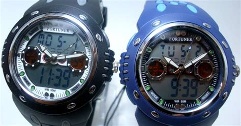 Murah Grosir Fortuner Ad1610 Black Blue arloji jam tangan murah fortuner digital analog terbaru
