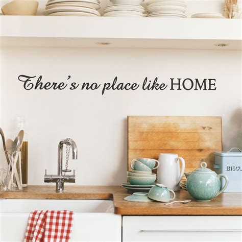 there s no place like home wall quotes decal wallquotes