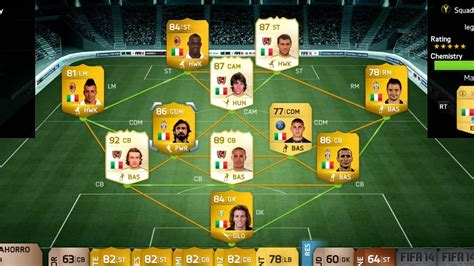 best team in fifa 14 fifa 14 10 000 000 coin italian squad builder ultimate