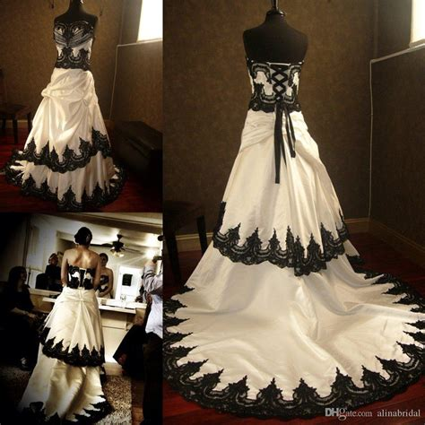 White Rock Wedding Dresses by Discount Stunning Black And White Wedding Dresses