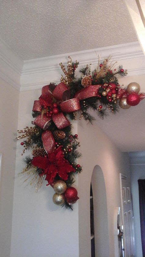 mantle swags corner wreath garland swag fireplace mantel crafts and ideas