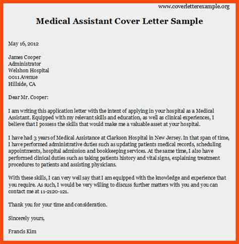 Program Aide Cover Letter by Cover Letter For Assistant Program Format