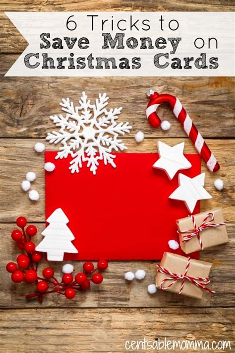 6 tricks to save money on christmas cards centsable momma