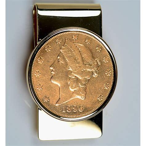 Gold Money Money Money Clip 14kt gold money clip with u s 20 gold liberty coin 1800 s