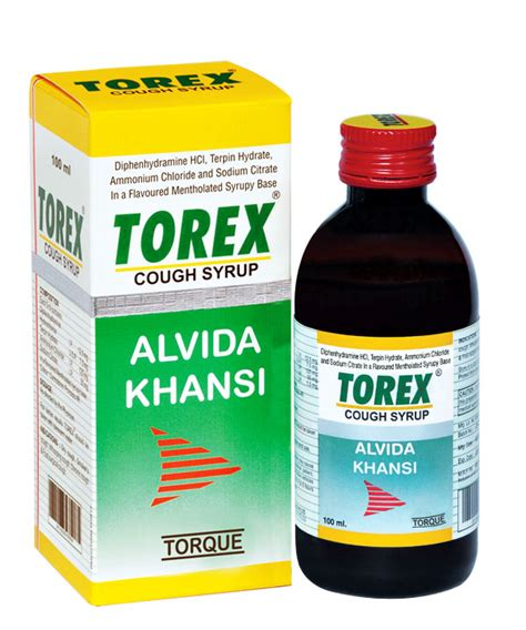 couch syrup torex cough syrup oral liquids torque pharma