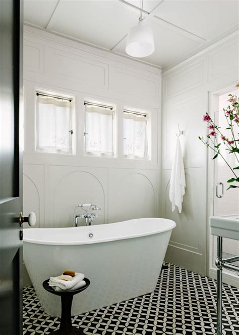 Craftsman Bathroom Tile by Patterned Tile Bathroom Floors On Houzz Style At Home