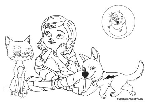 coloring pages of bolt the bolt coloring pages