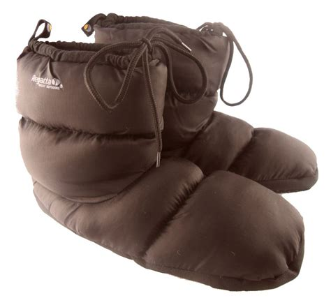 warmest slippers for mens regatta warm padded slippers boots black