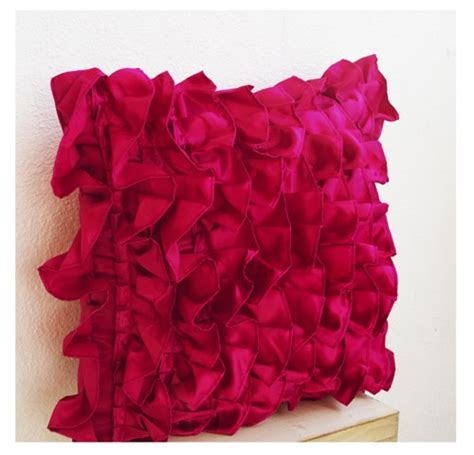 Ruffle Decorative Pillows by Pink Ruffle Pillow Decorative Pillow Pink Ruffle Throw