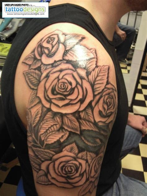 three roses on shoulder tattoo man google search