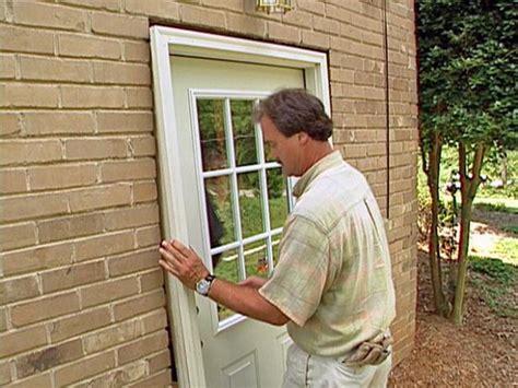 install  pre hung exterior door  tos diy