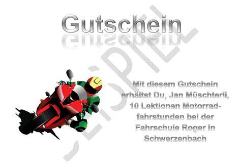 Bilder Gutschein Motorrad by Gutscheine