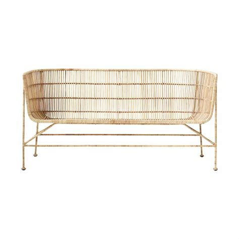 wicker benches house doctor coon natural rattan bench living and co