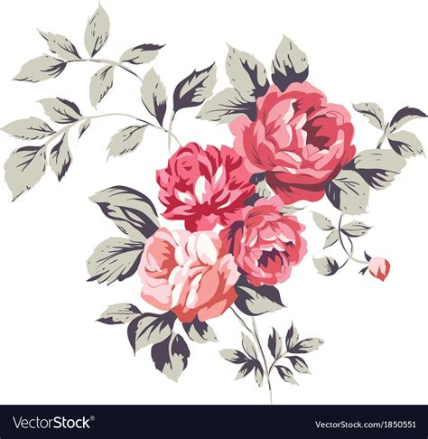 vintage pink roses royalty free vector image vectorstock