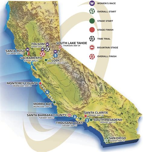 tour of california map 2016 amgen tour of california live preview