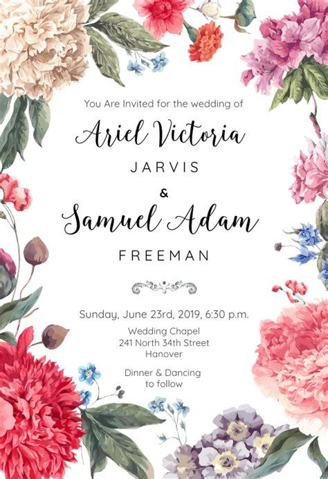 free printable wedding invitation templates greetings island garden glory free wedding invitation template