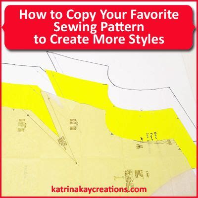 sewing pattern creator how to copy your favorite sewing pattern to create more