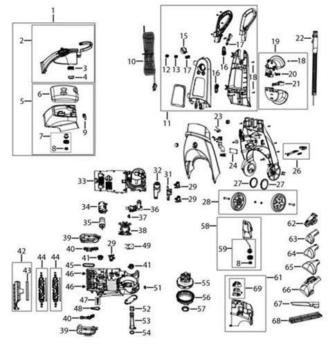 bissell proheat 2x parts diagram bissell proheat 2x cleaner parts