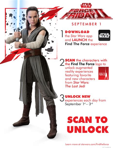 Star Wars The Last Jedi Sweepstakes - quot find the force quot force friday ii details fit disney mom