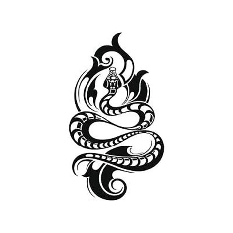 cool tribal snake tattoo design