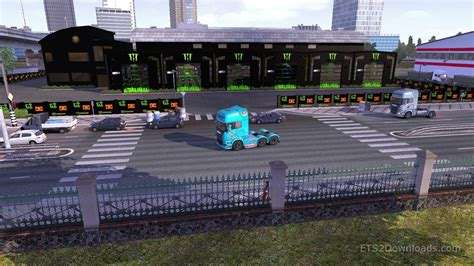 custom large garage ets 2 mods ets2downloads free download ets2 mods monster skin for garage