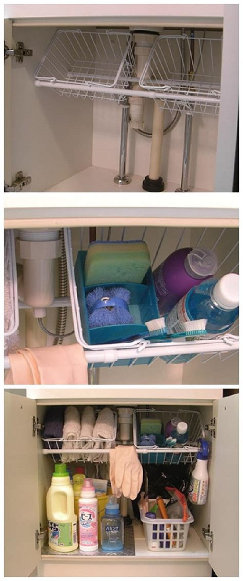 Under Sink Trays by 20 Creative Kitchen Organization And Diy Storage Ideas