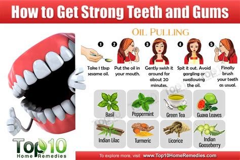 how to get strong teeth and gums top 10 home remedies