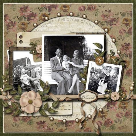 layout vintage my maternal grandparents and me scrapbook com