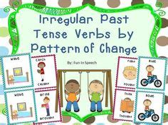 irregular past tense verb cards organized by pattern of change 1000 images about verbs on pinterest irregular verbs