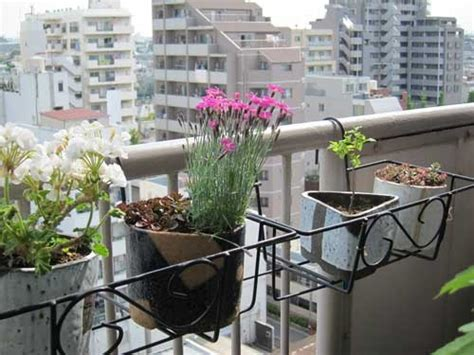 Planters For Balconies by Hanging Balcony Planter Using Pots Back Porch