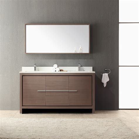 Mirror For Sink Vanity by Fresca Fvn8119go Allier 60 Quot Gray Oak Sink Bathroom