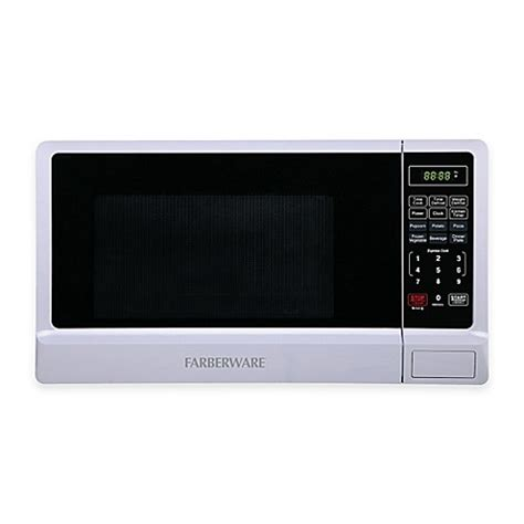 bed bath and beyond microwave farberware 174 classic 1 1 cubic foot microwave oven in white