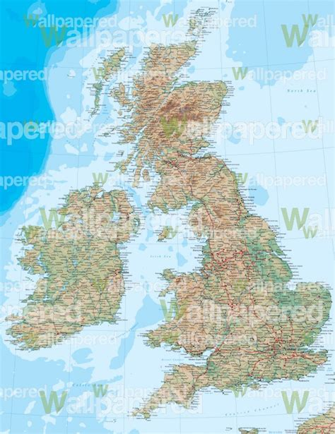 Map Of The World Wall Mural map of great britain wall mural map wallpaper