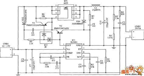 Pcb 0 15v 3a Power Supply Saturn S 027 application circuit diagram of switching regulator with input l0 15v output 5v 3a
