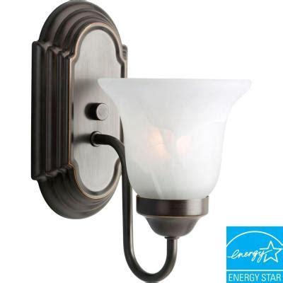 Fluorescent Vanity Light Fixture by Progress Lighting 1 Light Antique Bronze Fluorescent
