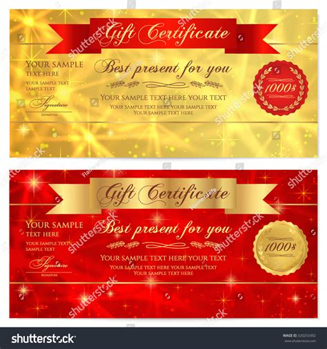 gift card flyer template gift certificate voucher coupon reward or gift card