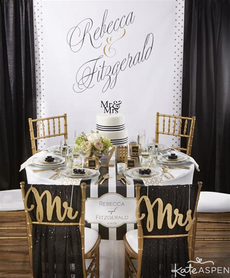 classic black and white wedding inspiration
