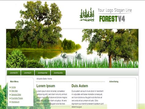 forest v5 joomla template riverside