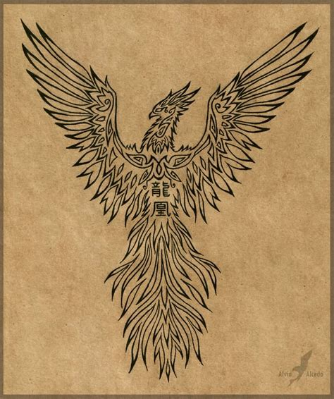 tattoo phoenix celtic design by babakch2