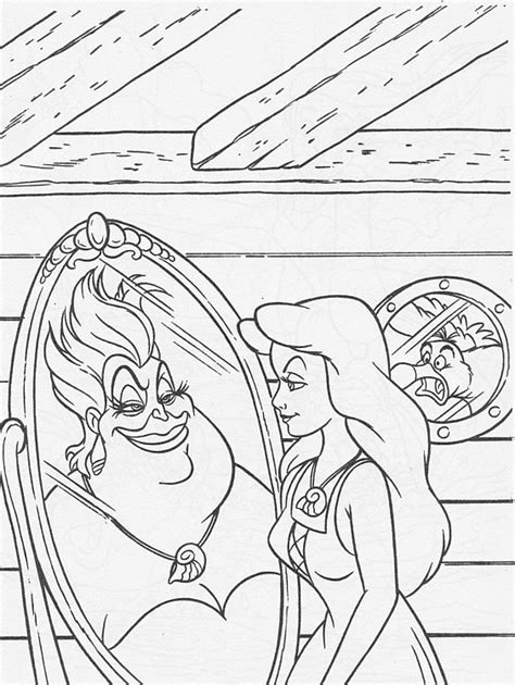 the little mermaid coloring pages scuttle walt disney coloring pages ursula vanessa scuttle