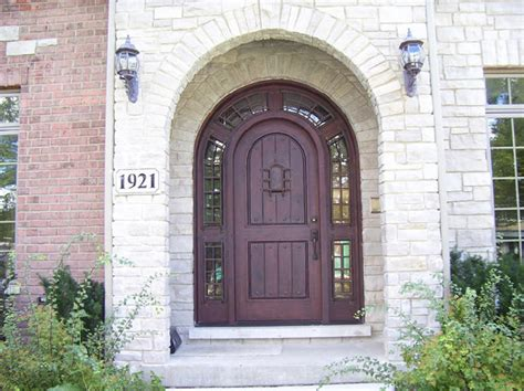 Arch Front Door Wood Doors Exterior Doors Mahogany Doors Entry Doors Canton Michigan Nicksbuilding