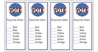 create a voting ballot template free voting ballot bookmarks classroom printable