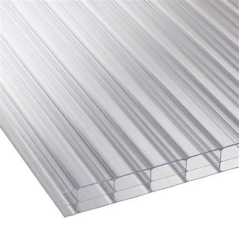 16mm clear triplewall polycarbonate sheet 610mm roofing