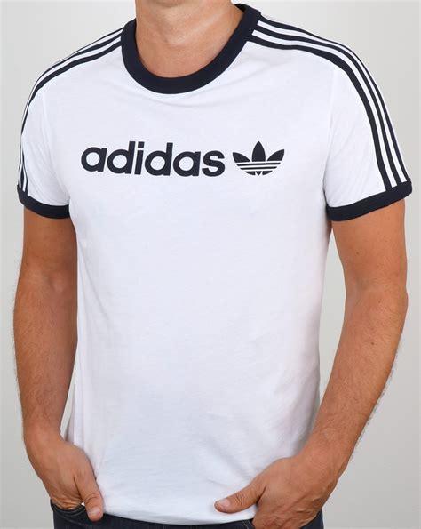 Tshirt Adidas Reutro Navy adidas originals linear t shirt white ringer 3 stripes