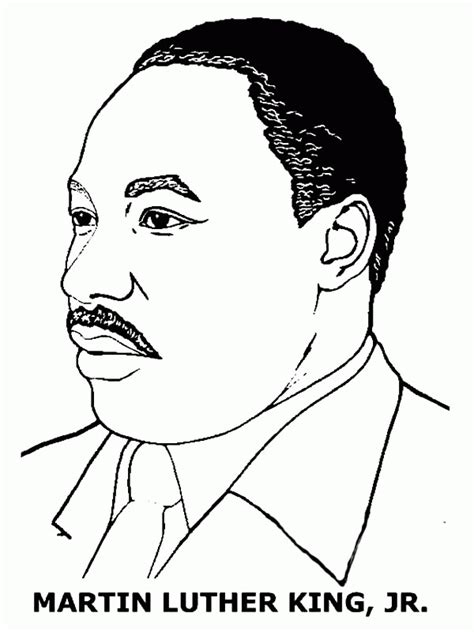 coloring pages for martin luther king jr martin luther king coloring pages free coloring home
