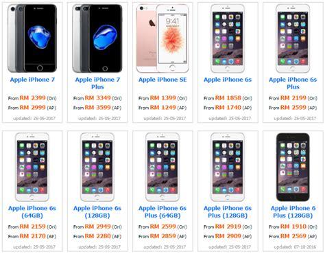 Hp Bb Di Malaysia jenis jenis iphone 6 harga iphone di malaysia terkini mobile