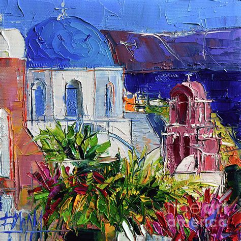 paint with a twist greece santorini church mini cityscape 01 modern
