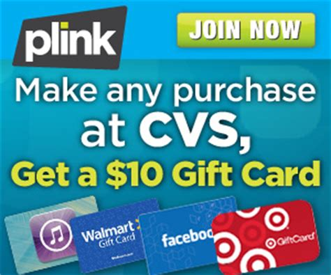 Free Gift Card When You Sign Up - free 10 gift card when you sign up for plink and shop at cvs