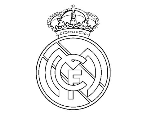 real madrid logo coloring coloring pages