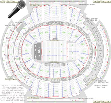msg floor plan square garden seating chart concert floor